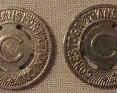Lancaster Pennsylvania Conestoga Transit Tokens With Holes Nice For Jewelry