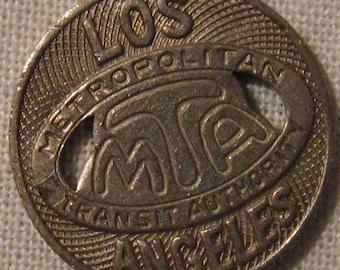 Vintage Los Angeles Metropolitan Transit MTA Token