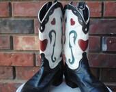 Vintage Heart Acme Boots size 8.5