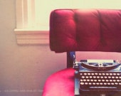the guest - typewriter photograph - original fine art print (8x12)