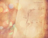 clearance sale, music photograph, sheet music print, bass clef photo, cello, kids room decor, music teacher decor, dreamy, nursery wall art