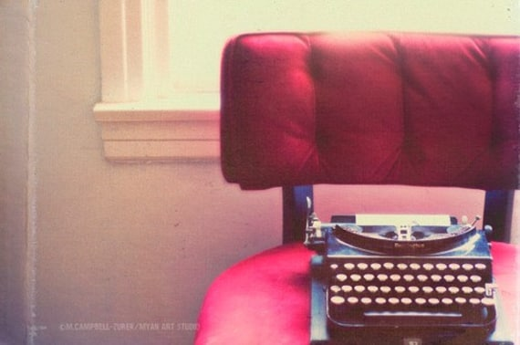 the guest - typewriter photograph - original fine art print (8x12)