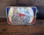 Belt Buckle - Recycled Beer Can - Bicycle