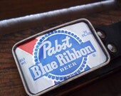 PBR Pabst Blue Ribbon  Beer Can Belt Buckle