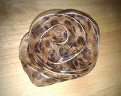 Leopard Print Sheer Flower brooch/hairclip