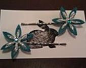 Blue Felt Star hairpin set