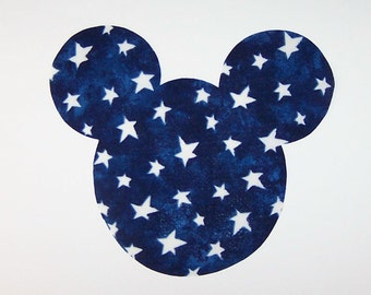 Iron On Fabric Applique Midnight MICKEY MOUSE