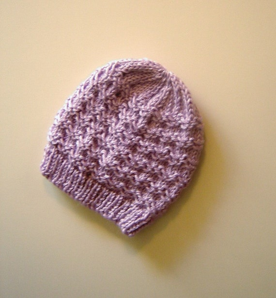 Knit Slip Stitch Left Handed : Hand Knit Slip Stitch Baby Hat by GrandmaLinda on Etsy