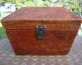 Vintage Leather Keep Sake Box