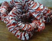 Christmas Garland Retro Red an Silver  Aluminum Tin  1940s or 50's
