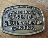 Vintage NRA Whittington Center Brass Belt Buckle