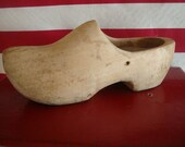Vintage Wooden Shabby Chic Primitive Wooden Shoe