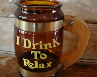 Vintage Beer Word Mug Cup Stein 50's-60's