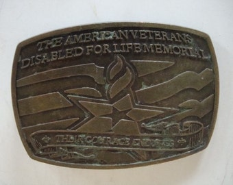 Vintage Belt Buckle The American Vets Disabled For Life Memorial