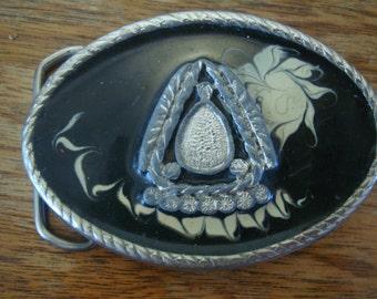 Vintage Western Metal Belt Buckle