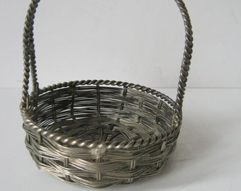 Vintage Metal Basket  Ornate Fun Sweet