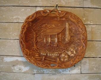 Vintage The Ozarks Syroco Wood Bowl Souviner