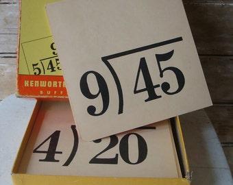 Vintage Flash Card Box Division 1948
