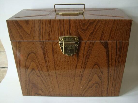 Vintage Industrial Brown Metal File Box