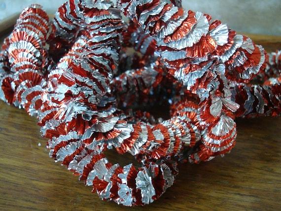 Christmas garland retro red an silver by highpointfarm