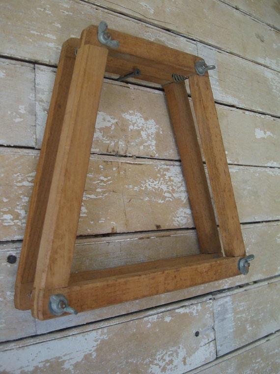 Vintage Wooden Wood Tennis Racket Racquet Head Press metal screw