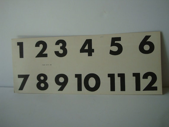 Vintage Number Flash Card 1950s or 60s