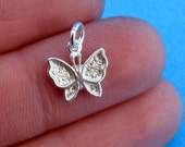 Solid 925 Sterling Silver Chram Small Butterfly P-1453