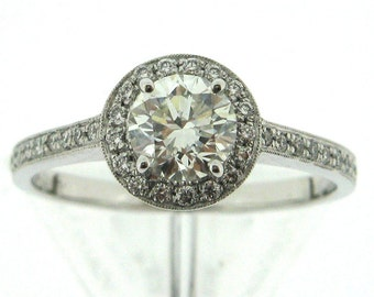 14K White Gold Mount with Diamonds Made To Order