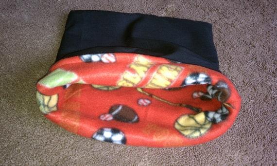 SALE LARGE sporty guinea pig cuddle sack.