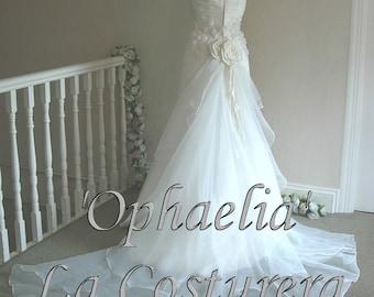 Custom Made 'Ophaelia' Bridal Gown Wedding Dress handmade