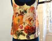 Printed pure silk top - one off piece