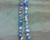 colorful glass beaded necklace