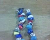 colorful glass beaded bracelet
