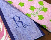 Burp Cloths for Baby - Custom Personalized Embroidered Set of 2