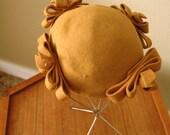 Vintage 50s Mustard Perfect hat