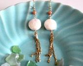 Tide Pool Gold Chain Earrings