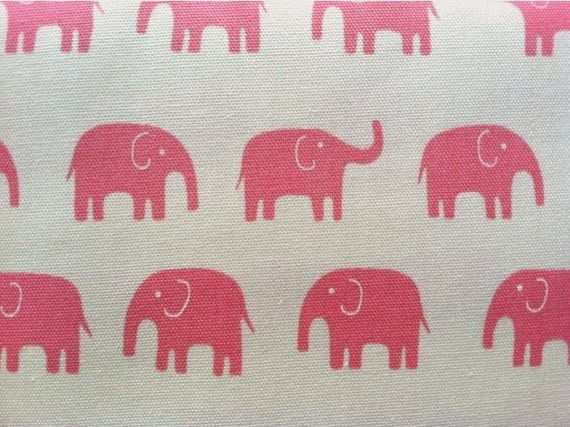 Elephant fabric in pink daiwabo fabric tip top canvas 1 yard for Elephant fabric