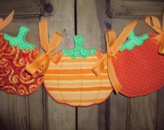 Fabric Pumpkin Banner