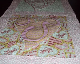 Valentine Quilted & Appliqued Table Runner