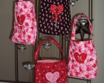 Appliqued & Monogramed Lollipop Gift Bags