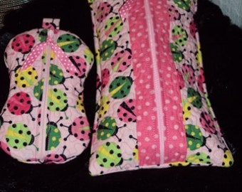 Quilted Baby Wipes & Paci Pouch