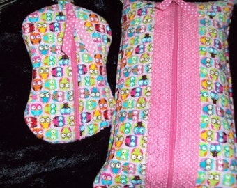 Quilted Baby Wipes & Paci Cases