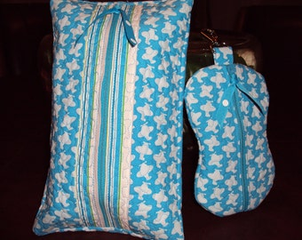 Quilted Baby Wipe & Paci CaseSet