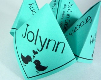 BLACK Wedding Ceremony Program Cootie Catcher (PDF - PRINTABLE)