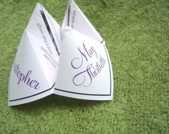 Wedding Favor/Picture Insert Cootie Catcher (PDF - PRINTABLE)