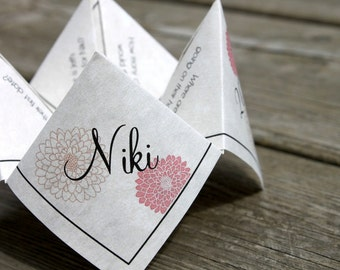 Wedding Menu Cootie Catcher (PDF - PRINTABLE)