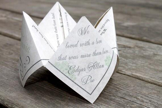Cootie Catcher Wedding Invitation: Wedding Favor Cootie Catcher PDF PRINTABLE