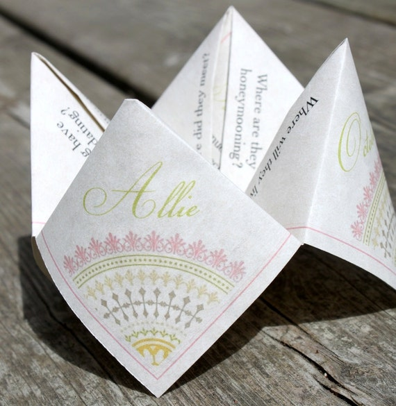 Wedding Favor/Donation Cootie Catcher (PDF - PRINTABLE)