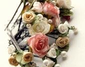Roses bobby pins set of 4 - Choose any FOUR bobby pins, roses, bohemian hair accessories, bridesmaid hair pins, flower girl hair clips