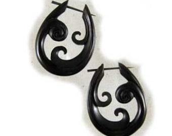 Triple Swirl, Horn Earrings (er-45-h)